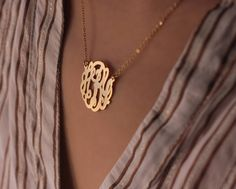 still want a monogram necklace