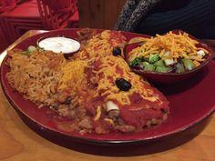 Enchilada burrito rice dinner with vegan sour cream - Montezumas, North Adelaide Montezuma, Vegan Sour Cream, Burritos, Enchiladas, Gluten Free Recipes, Free Food, Rice, Dinner, Breakfast Burritos