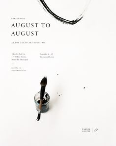 AUGUST TO AUGUST launches next week at the Tokyo Art Book Fair! If you're in Japan, come say hi - we'll be in the International Section and would love to see you. AUGUST TO AUGUST is available now for pre-order HERE and ships worldwide starting Sept. Art Book Fair, Book Art, Design Art, Web Design, Layout Design, Design Ideas, Poster Ads, Design Graphique, Graphic Design Posters