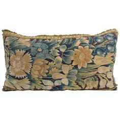 Antique Verdure Tapestry Bolster Pillow. | From a unique collection of antique and modern pillows and throws at https://www.1stdibs.com/furniture/more-furniture-collectibles/pillows-throws/