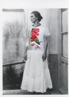 Frida with Frida t-shirt from ThePinkieProject