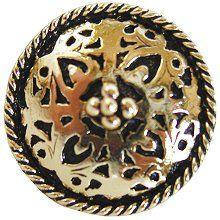 Moroccan Jewel Knob Brite Brass…