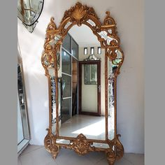 Wooden Frame Mirror Carved Shinta MG 030003