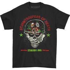 S.O.D. Stormtroopers of Death Helmet Head Tee (Black) T-shirt   Rockabilia Merch Store Stormtroopers Of Death, Helmet Head, Metal Shirts, Tees, Sweatshirts, Mens Tops, T Shirt, Store, Black