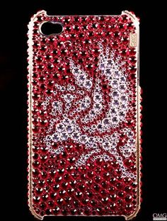 iPhone 4 & 4s Swarovski Crystal Bling Diamante Case Cover - SCARLET PEGASUS HANDMADE CASE USING GENUINE SWAROVSKI CRYSTALS. Case Name: SCARLET PEGASUS  Design No: 580 Collection: CRYSTAHOLICS COLLECTION. Case fits an IPhone 4 & 4s. Free Gift Box INCLUDED & Free Extra Crystals INCLUDED. This case was specially designed for the Crystaholics Collection. In creating this case, OMG Crystals have used... #Apple #Wireless
