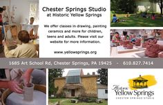 E Chester Painting Art Classes at Chester Springs Studio in Historic Yellow Springs ...