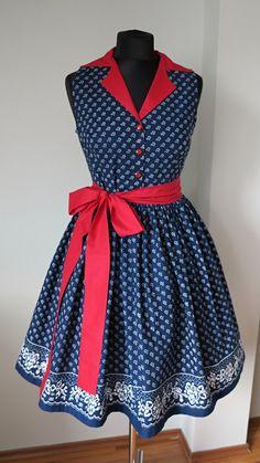 d1655fcb9efb šaty košilové rudé - pravý modrotisk   Zboží prodejce Modrotiskové šaty od  Mii