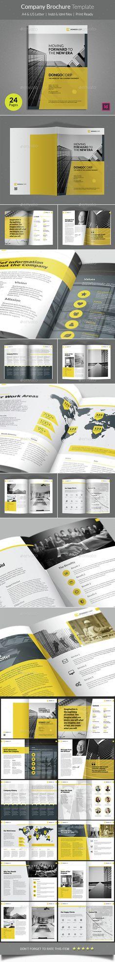 Company Brochure Template - #Corporate #Brochures | Download http://graphicriver.net/item/company-brochure-template/15143040?ref=sinzo
