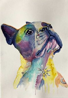 More For Me? – French Bulldog Watercolour Painting, Watercolor Tattoo, Image Shows, French Bulldog, Color Pop, Iphone Wallpaper, Original Artwork, Fun, French Bulldog Shedding