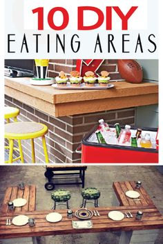 DIY eating areas for