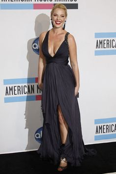 This dress! A little low, but the color and the length and slit...wow
