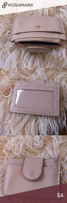 Charlotte Russe card holder keychain •Excellent used condition •Keychain •Card holder/ change purse •Color: Taupe •Brand:Charlotte Russe •NO TRADES Charlotte Russe Accessories Key & Card Holders