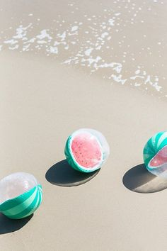 Watermelon beach balls for a fun day at the beach with goodnessknows!