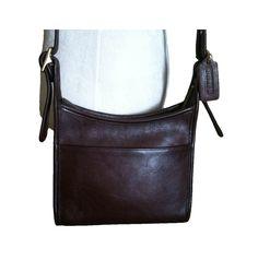 49 Vintage Handbag Coach Bag Dark Brown Leather Crossbody Designer