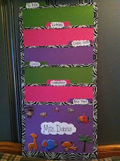 I LOVE THIS IDEA! duct tape and folders to create this - don't need to buy another pocket chart!