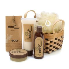 Eco-nomy Bath And Body Gift Basket Set