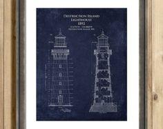 Split rock lighthouse architectural blueprint art print duluth split rock lighthouse architectural blueprint art by scarletblvd malvernweather Images
