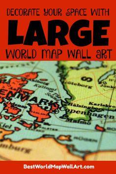 Large World Map Wall Art - Best World Map Wall Art