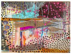 Doodle and paint postcard by Sarah of Juicy S for iHanna's DIY Postcard Swap spring 2016 #diypostcardswap #mailart