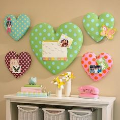 For Katies room with a Hippo on it. decor, wall art, hearts, craft, diy