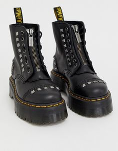 Buy Dr Martens x ASOS exclusive studded Sinclair chunky boots in black at ASOS. With free delivery and return options (Ts&Cs apply), online shopping has never been so easy. Get the latest trends with ASOS now. Dr. Martens, Doc Martens Boots, Cute Shoes, Me Too Shoes, Sinclair, Rebel Fashion, Chunky Boots, Shoe Company, Asos