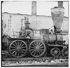 Damaged Locomotives - Richmond, VA, 1865