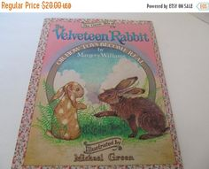 ON SALE The Velveteen Rabbit by Margery Williams - Large Copy! by CellarDeals on Etsy