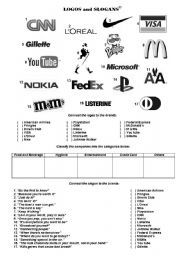Worksheets Advertising Slogans Worksheet english worksheet writing advertising slogans summer camp logos and slogans