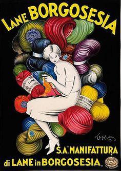 By Leonetto Cappiello, 1927, Lane Borgosesia.