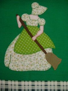 Collage patch for beginners: Learn how to customize Dishcloth with fabric you cours p los Sunbonnet Sue, Applique Quilt Patterns, Wool Applique, Applique Designs, Patch Quilt, Quilt Blocks, Collage, Machine Quilting, Machine Embroidery