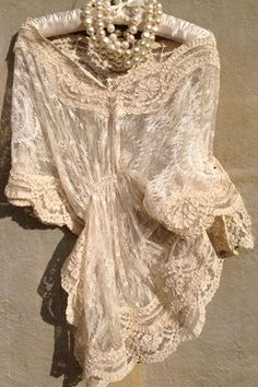 bonnie strauss clothing and jewelry Antique Lace, Vintage Lace, Kinds Of Clothes, Clothes For Women, Romantic Outfit, Lace Decor, 20s Fashion, Pearl And Lace, Linens And Lace