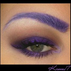 ⚠Oh how I WISH I could wear purple brows to work!⚠ I already get crazy looks because I wear any makeup. Working for the Forest Service means I should be a totally Hippy, natural, Mother Earth is all type of chick. In my case, I just find this job interesting. You learn a million things in one day and the area is beautiful. BUT! I'm really to move on and get back to Las Vegas where I feel like home is.   3 months!    Products used: GlamourDollEyes Shadows in; Lexington Obscure Feline Fatale…