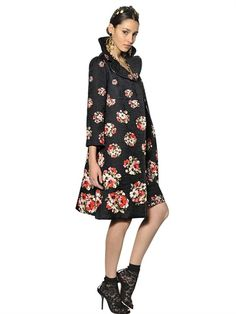 D FW 2013/14: Faith and devotion straight from the catwalk: PRINTED TECHNO SILK BROCADE COAT