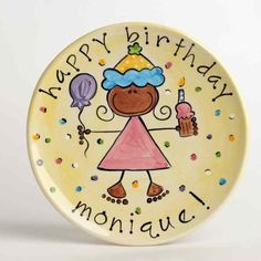 Girl's Birthday Plate