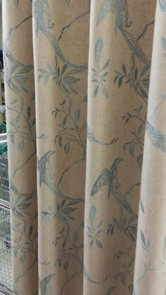 Songbird duck egg curtains dunelm Mill.  Expensive!