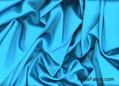 Turquoise Tahari Satin Fabric