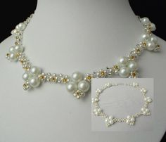 """Finally after long time is ready one my own necklace. I feel good to be back and do again bead-work. Necklace """"LARA"""" is simple and don't take long time. Just look tutorial and fol…"""