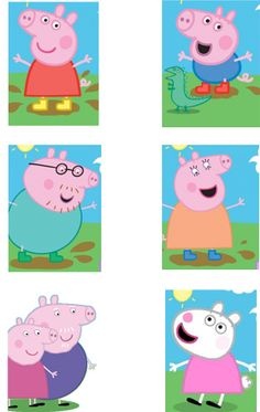 Peppa Pig Treasure Hunt with printable peppa pig cards to hide.