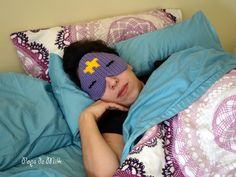Rest like royalty, by which I mean the Lumpy Space Princess from Adventure Time, with this totally mathematical crocheted sleep mask dreamed up by Patricia of Pops de Milk!
