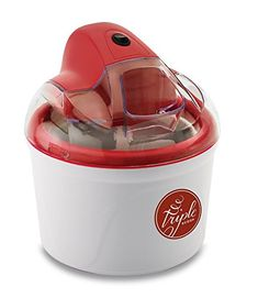 Ice Cream Maker with Neapolitan Flavors, Red Ice Cream Mix, Ice Cream Maker, Vanilla Ice Cream, Great Wedding Presents, Cold Ice, Frozen Desserts, Frozen Yogurt, Hostess Gifts