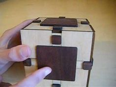 ▶ home made puzzle box with laser cutted wood - YouTube