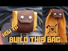 Learn how to make a diy buckskin foraging bag. Foraging is a the ability to identify and gather wild growing plants that are edible and that can be used Dump Bags, Skin Craft, Leather Projects, Leather Crafts, Edc Bag, Bushcraft Gear, Larp, Sewing Leather, Tote Backpack