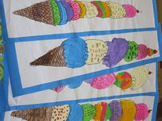 Colors of Summer Art Class - could do something like this with appliqué for a fun summer runner or wall hanging