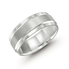 CB-418-8W Cobalt. Color: white | MaloBands Rings For Men, Wedding Rings, Engagement Rings, Cobalt, Bands, Satin, Color, Jewelry, Jewellery Making