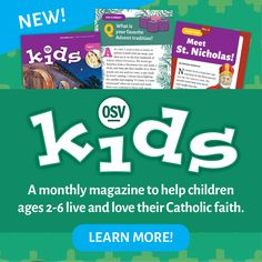 OSV Kids will help your little ones come to know and live the liturgical year as they grow, the first step in creating lifelong Catholics who love their faith! Steubenville Conferences, Saints For Kids, Black History Month Activities, Prayer Service, Special Prayers, Catholic Kids, Religious Images, Religious Education, Joy And Happiness
