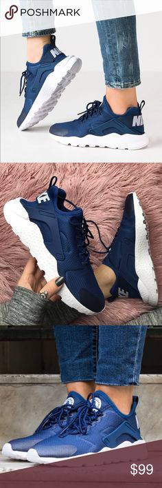 Trendy Sneakers 2018 NWT Nike huarache ultra coastal blue Brand new no box lid,price is firm,no trades! The classic Huarache look and fit you Zapatillas Nike Huarache, Nike Huarache Ultra, Nike Shoes Huarache, Sneakers Nike, Cute Shoes, Me Too Shoes, Basket Style, Nike Free Shoes, Mode Inspiration