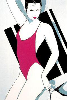 Untitled by: Patrick Nagel Acrylic on board Playboy illustration