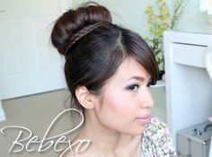Braided Sock Bun Updo Hairstyle (2 ways) - Bebexo Official Website | Hairstyles and Makeup Tips