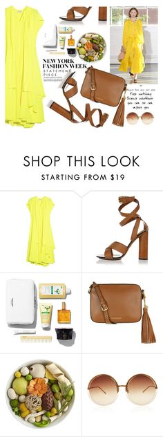 """Yellow on..."" by nataskaz ❤ liked on Polyvore featuring Creatures of Comfort, Balenciaga, Gucci, MICHAEL Michael Kors, Pier 1 Imports and Linda Farrow"