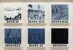 Gordon Bennett Untitled (dismay, displace, disperse, dispirit, display, dismiss) 1989